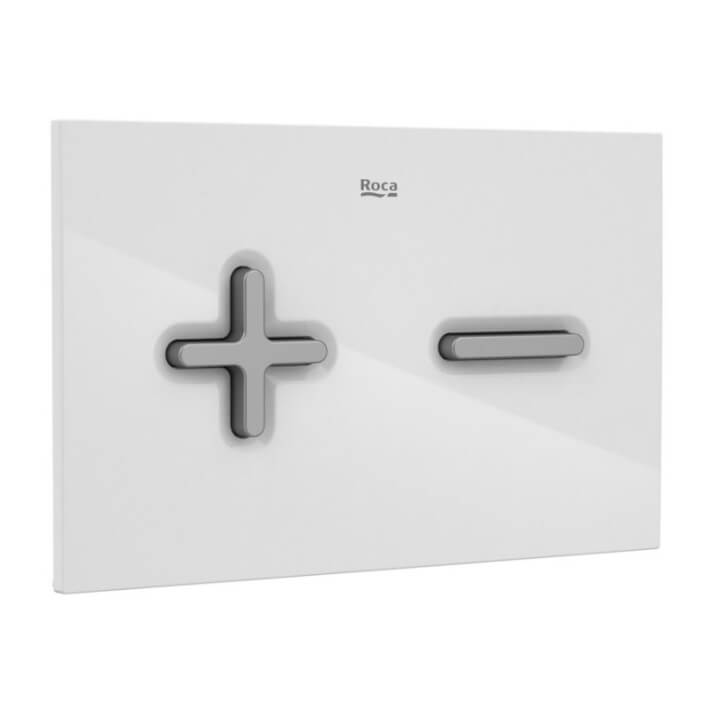 Placa PL6 Dual color combi blanco gris One Roca