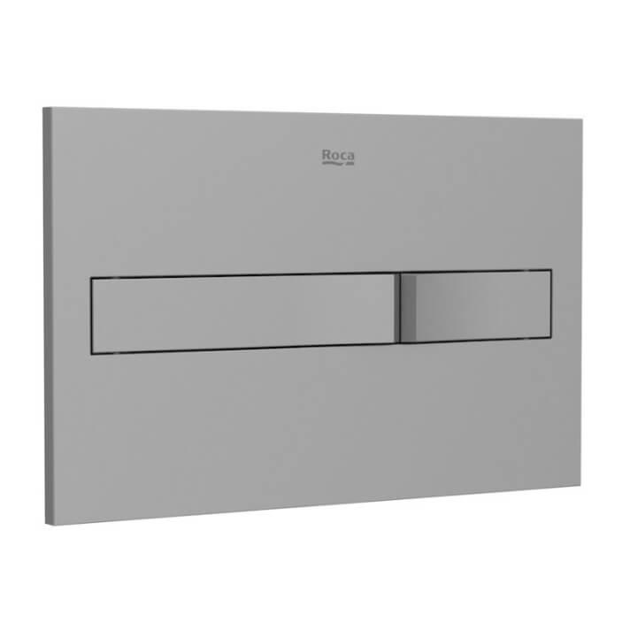 Placa PL2 Dual Lacado gris One Roca