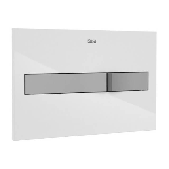 Placa PL2 Dual blanca y gris One Roca