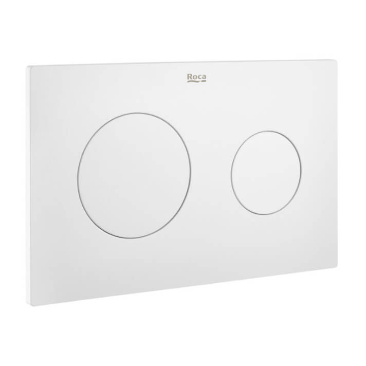 Placa PL10 Dual Blanco Mate In Wall One Roca