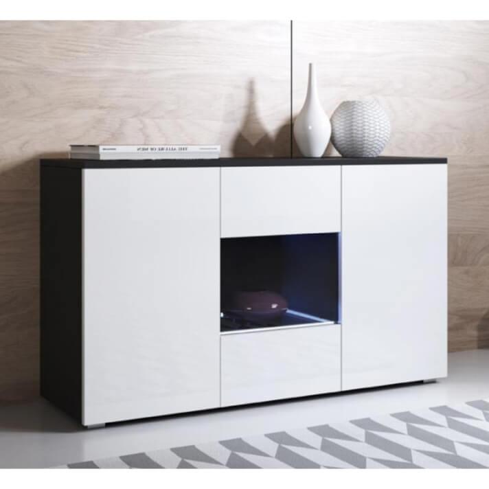Aparador negro y blanco moderno Leiko Domensino