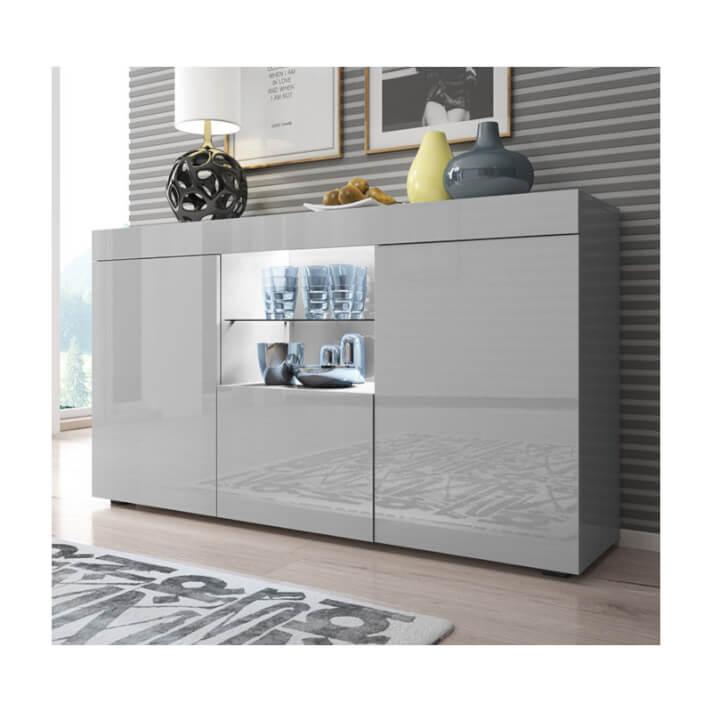 Aparador moderno gris con luz Safira Domensino
