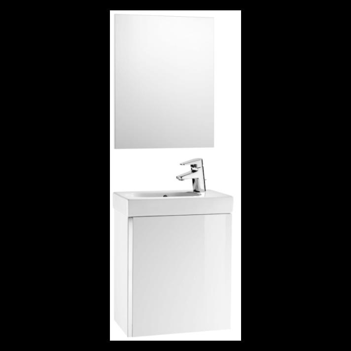 Móvel Branco com espelho Mini Roca