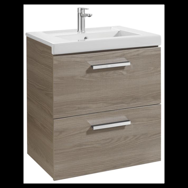 Mueble de baño con dos cajones 60cm Fresno Prisma Roca