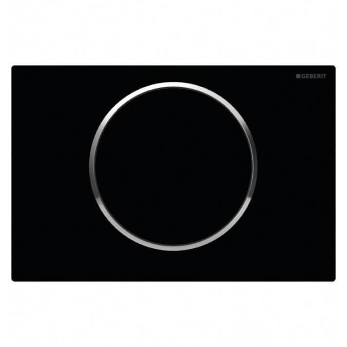 Plaque de chasse Sigma10 Noire Geberit