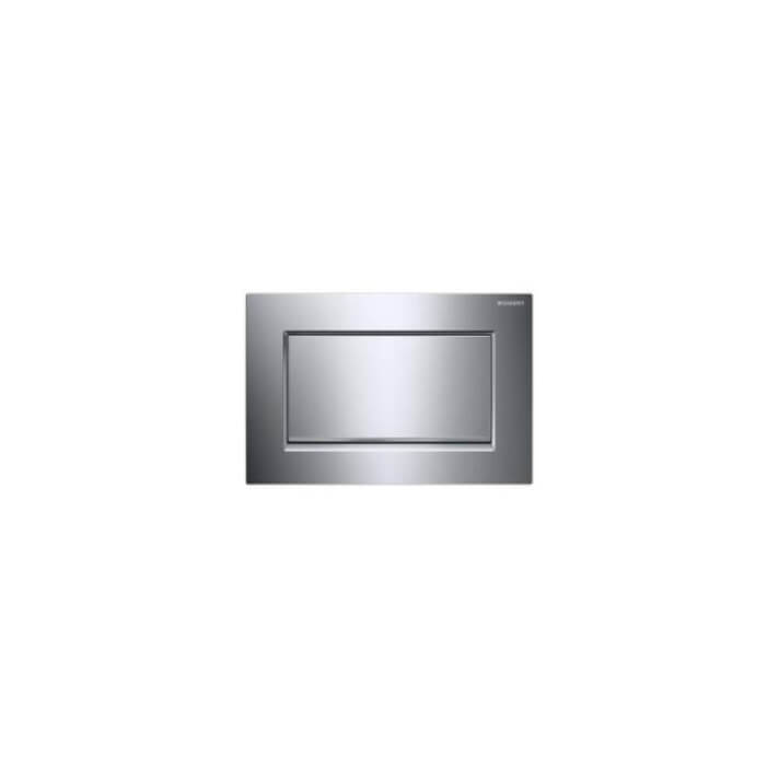 Plaque de chasse unique Sigma30 Chromé Brillant Geberit