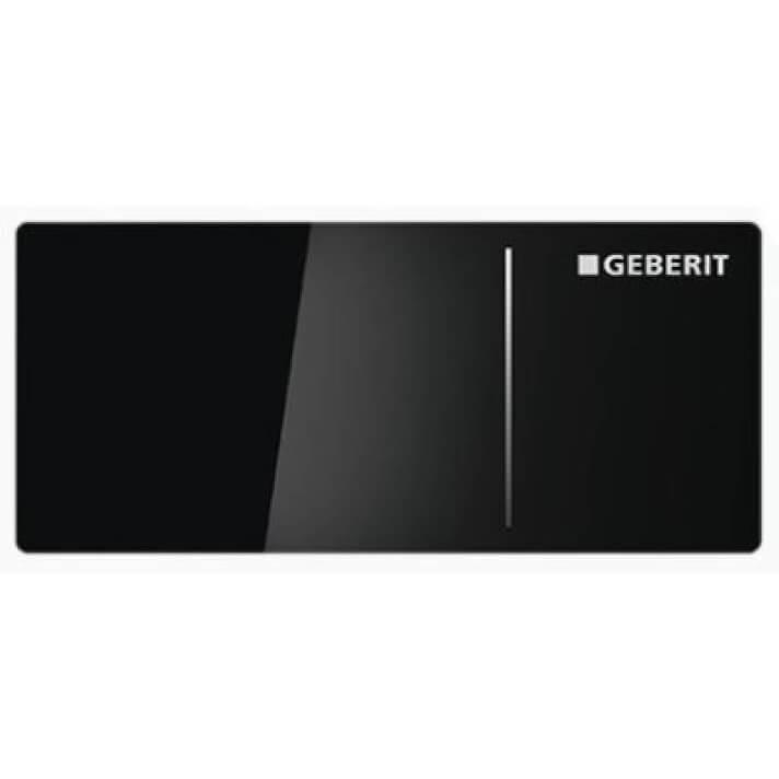 Plaque de chasse Noire réservoir Sigma 12 cm Geberit70