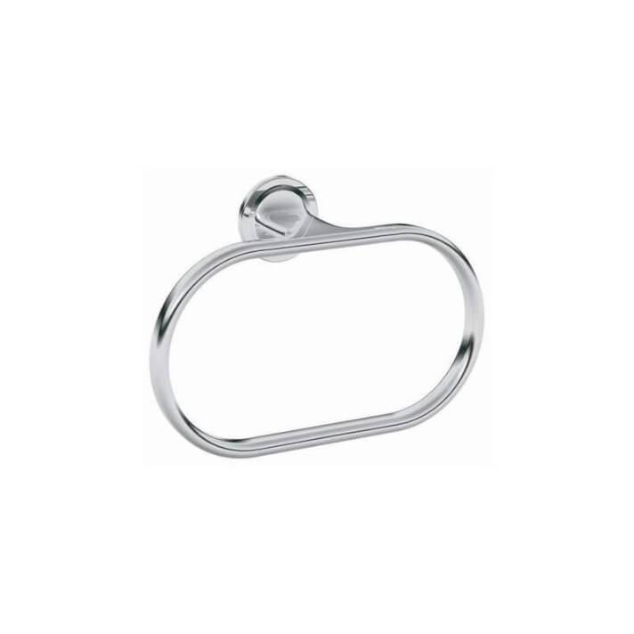Porte-serviettes anneau en chrome Grohe Veris