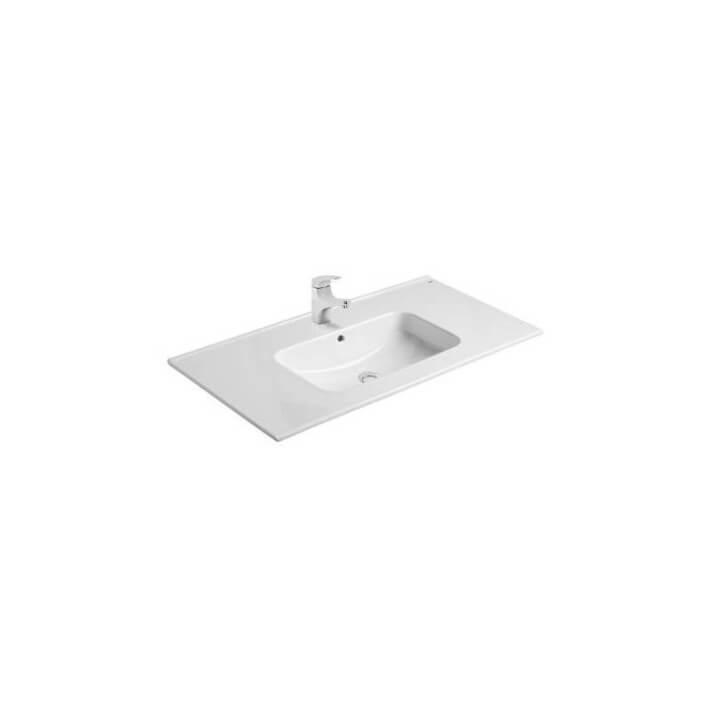 Plan vasque à encastrer Gala Smile 101 x 46 x 1,5 cm
