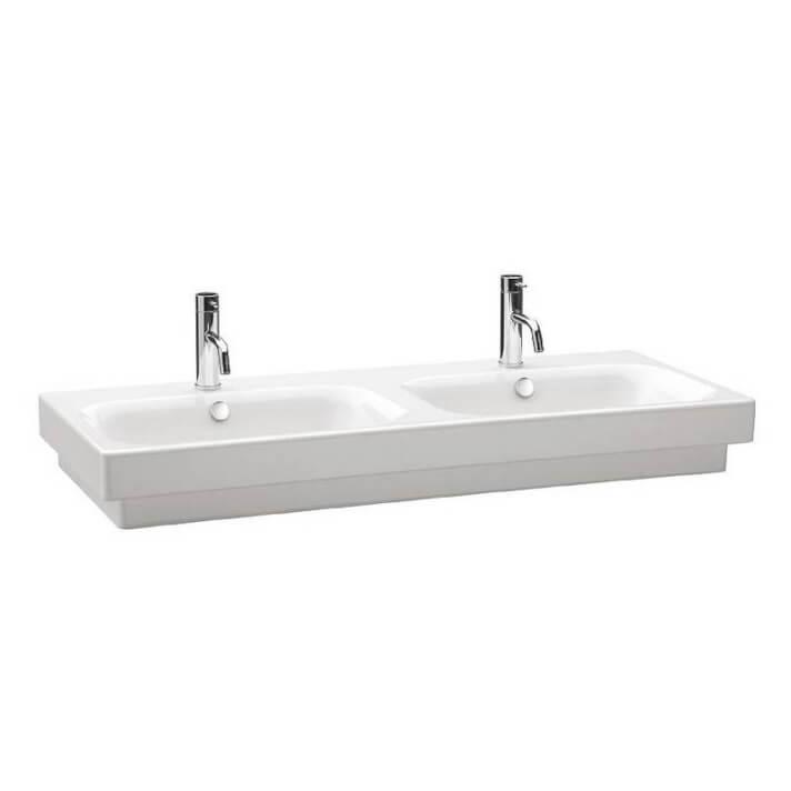 Plan vasque double semi-encastré Gala Flex 120 x 47,5 cm