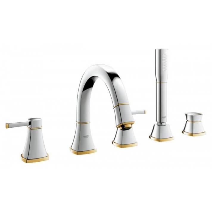 Ensemble de robinetterie pour baignoire et douche or Grandera Grohe