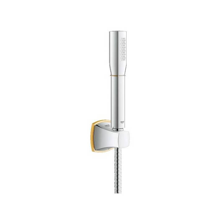 Ensemble de douche et support mural Grohe Grandera Or
