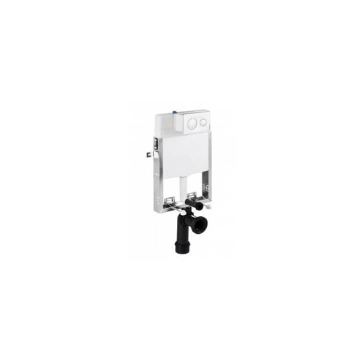 Cisterna empotrada con soporte Sanslim y placa To-Slim Unisan