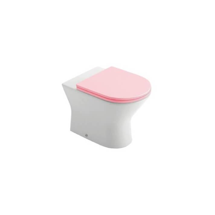Inodoro Gala Baby wc rosa BTW compacto