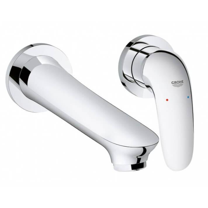 Miscelatore per lavabo a due fori a parete M con leva chiusa Grohe Eurostyle