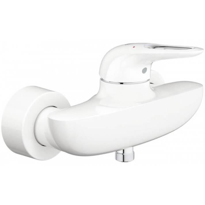 Robinet de douche avec levier à fente White Moon Eurostyle Grohe