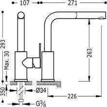 Grifo de fregadero de teleducha extraíble LEX-TRES