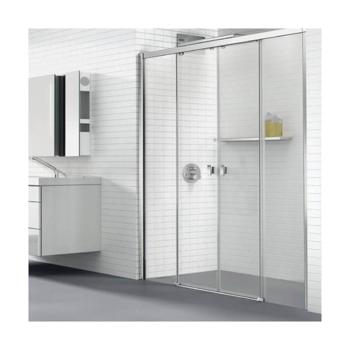 Mampara ducha frontal 2 correderas PLUS