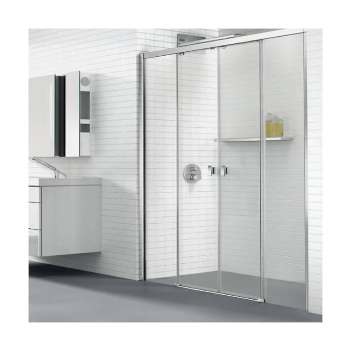 Pare-douche frontal avec 2 portes coulissantes Plus COSMIC