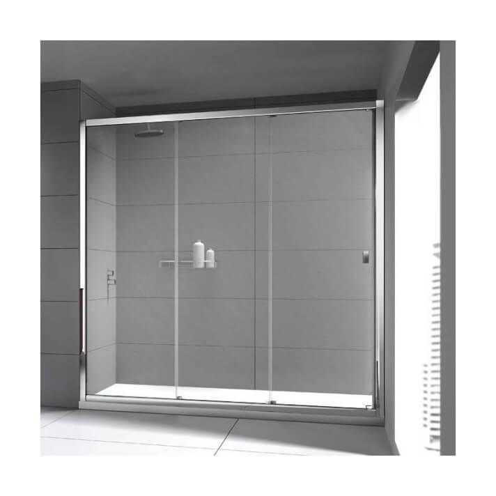 Pare-douche frontal avec 2 portes coulissantes TECHNIC