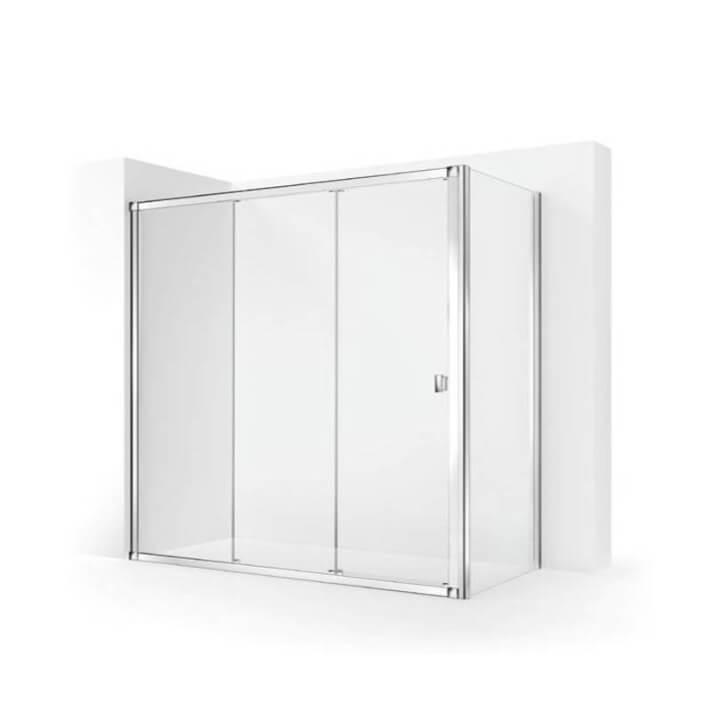 Pare-douche d'angle avec 2 portes coulissantes TECHNIC