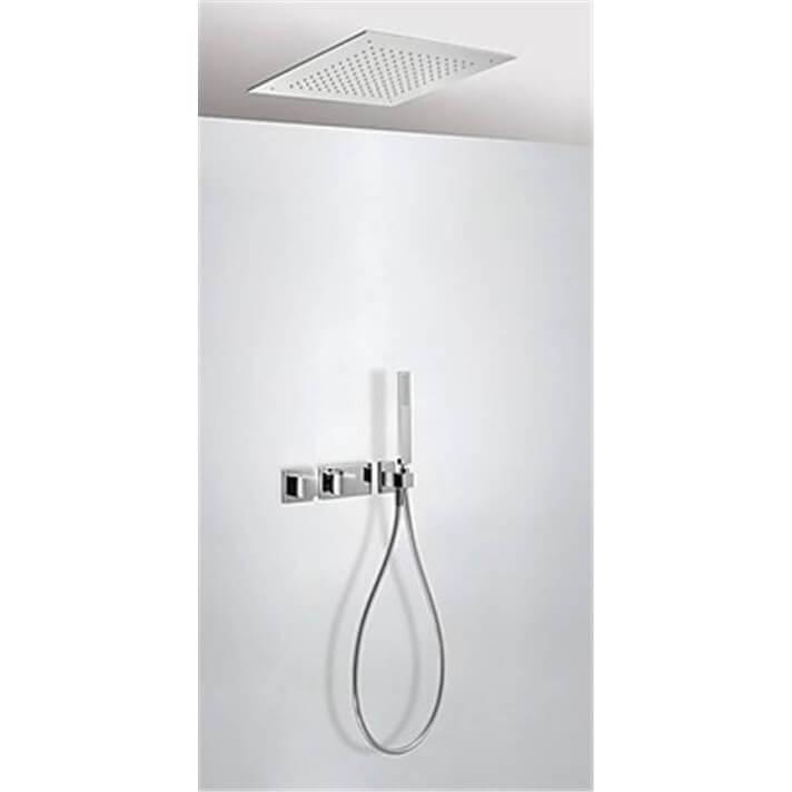 Kit de ducha termostático TRES RTC 38x38