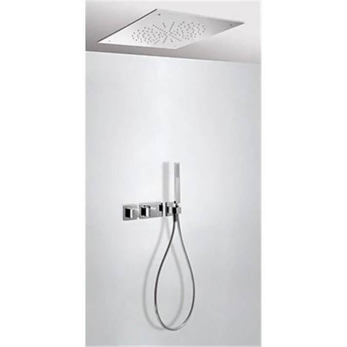 Kit de ducha termostático TRES RTC 50x50
