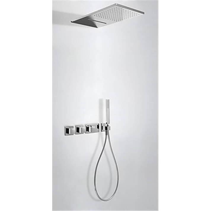 Kit de ducha termostático 3 vías TRES Cascada