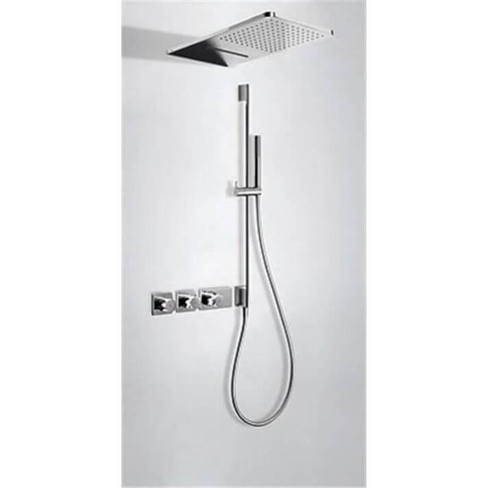 Kit de ducha termostático 3 vías TRES Cascada+