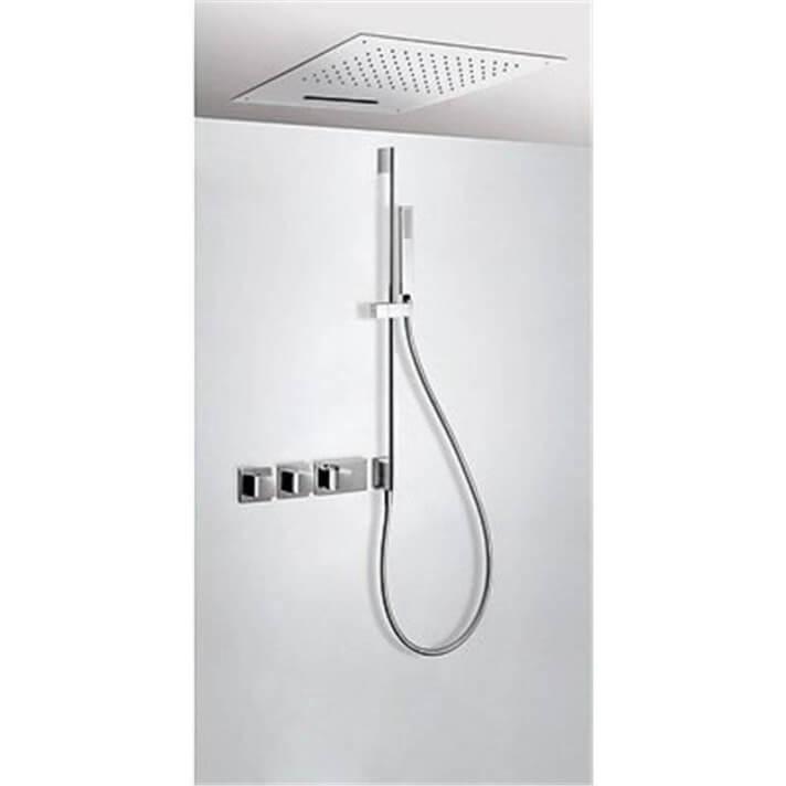 Kit de ducha termostático 3 vías TRES C Cascada+