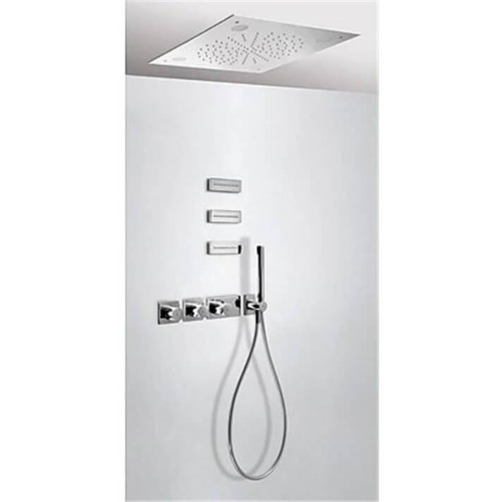 Kit de ducha termostático Cromoterapia y Jets 3 vías TRES