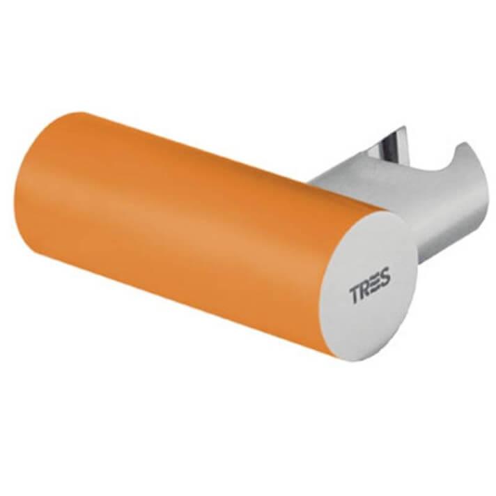 Soporte orientable de ducha Naranja TRES