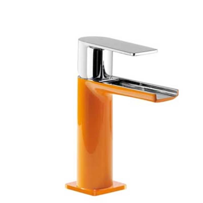 Grifo de lavabo Naranja de Cascada TRES LOFT