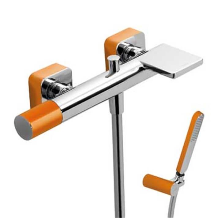 Kit baignoire-douche orange LOFT TRES