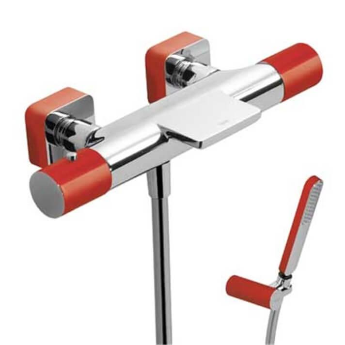 Kit bañera-ducha termostática Cr/Ro TRES LOFT