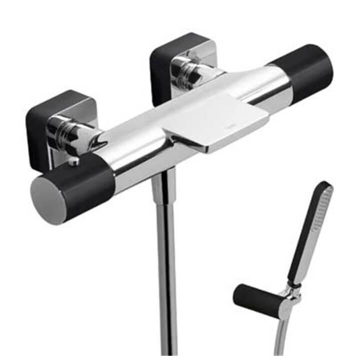 Kit bañera-ducha termostática Cr/Ne TRES LOFT