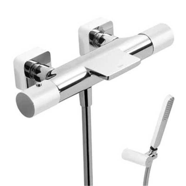 Kit bañera-ducha termostática Cr/Bl TRES LOFT