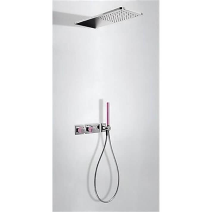 Kit de ducha termostático 2 vías Cr/Fu TRES LOFT