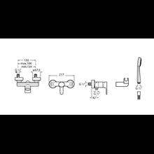Miscelatore per doccia esteriore L20 Roca