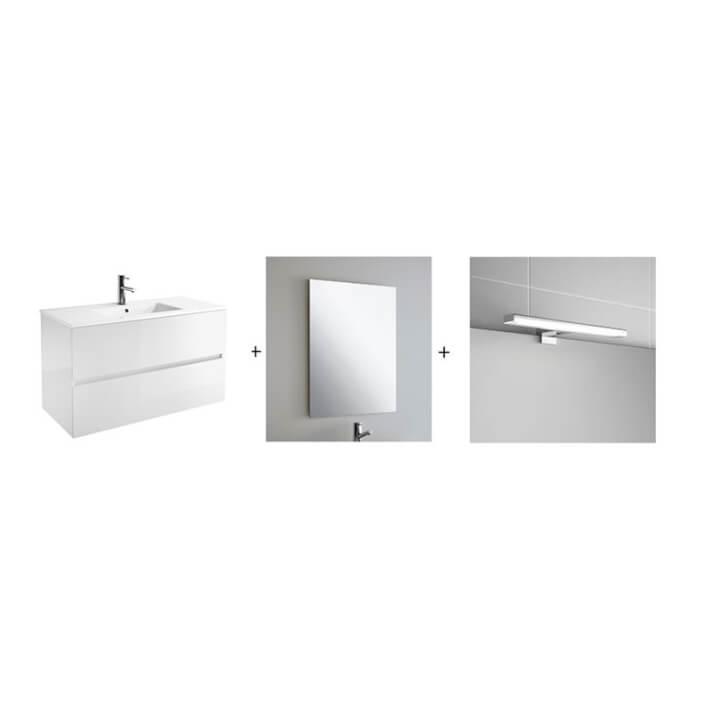 Conjunto baño SALGAR FUSSION LINE 1000 Blanco Brillo