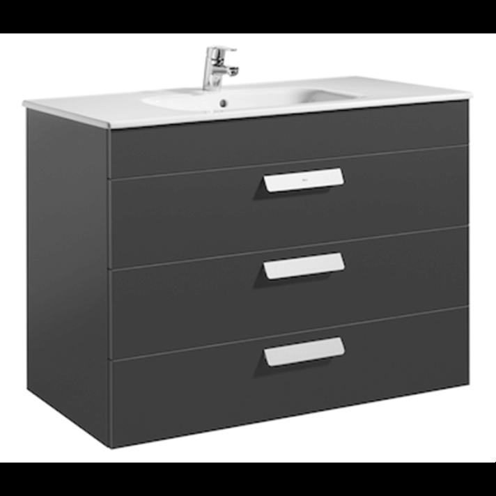 Mueble gris 100cm 3 cajones Debba Roca