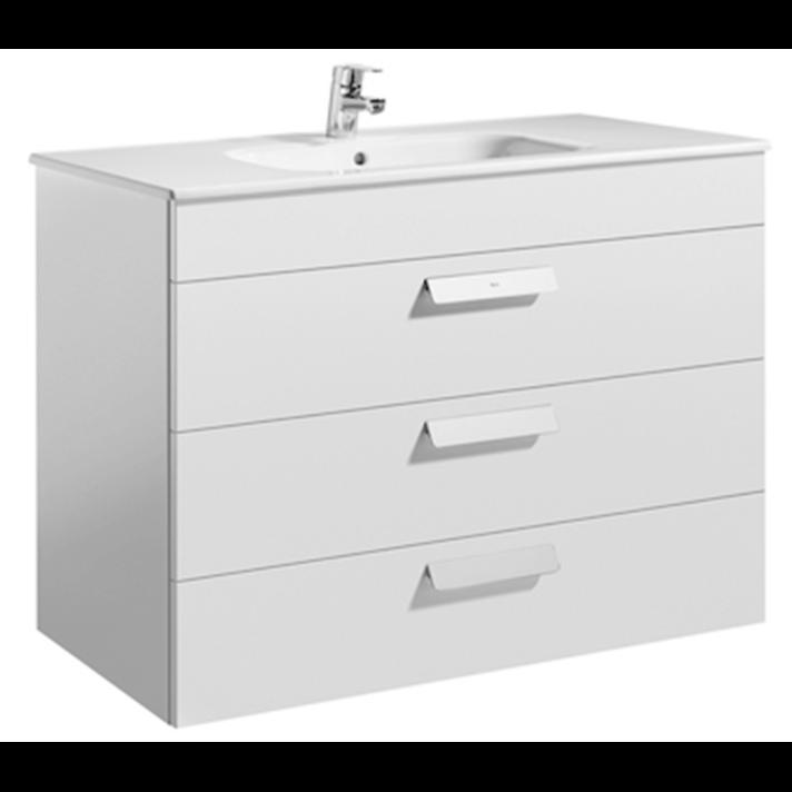 Mueble blanco 100cm 3 cajones Debba Roca