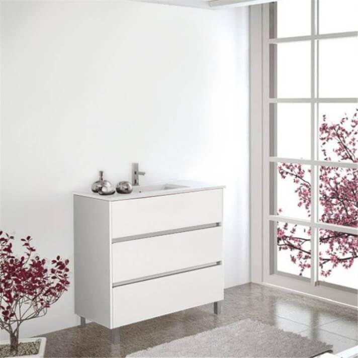 Mueble con lavabo Blanco brillo Imperia TEGLER