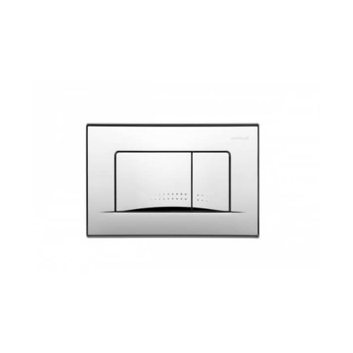 Placa acionamento acetinada PLAN - Unisan Sanindusa