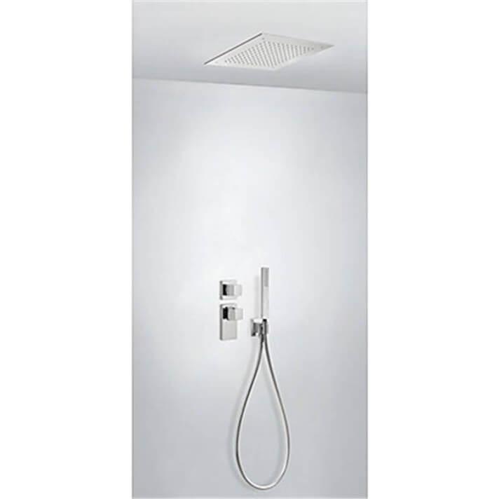 Kit de ducha termostático empotrado ECO Tres INOX a techo