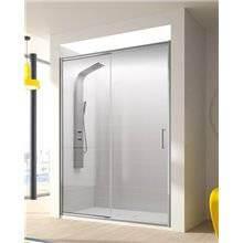Pare-douche avec porte coulissante pour douche...