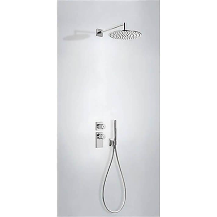 Kit de ducha termostático empotrado ECO Tres redondo