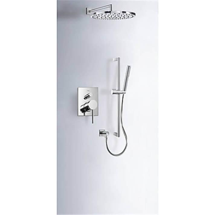 Kit de ducha empotrado MONO-TERM Tres redonda barra deslizante