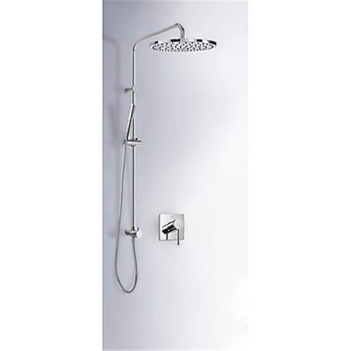 Kit de ducha empotrado MONO-TERM Tres redondo con toma pared