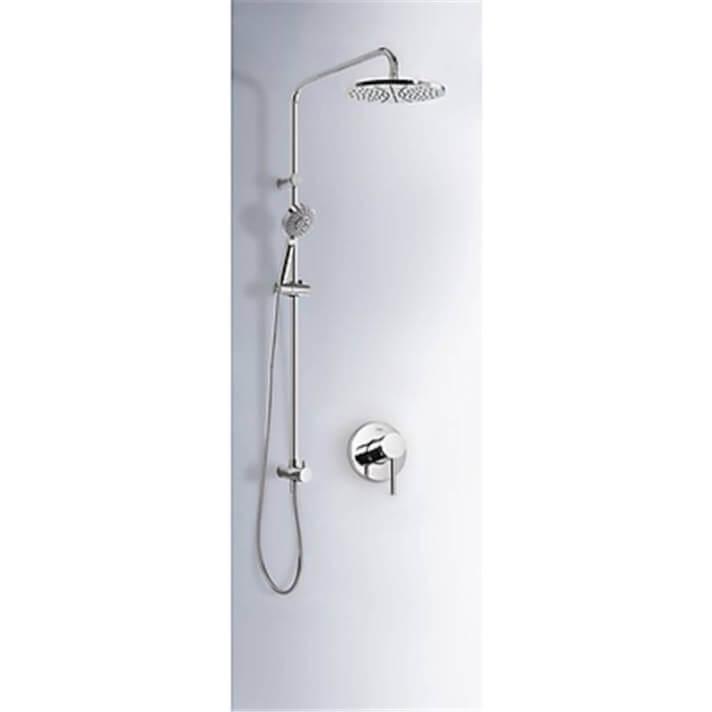 Kit de ducha empotrado MONO-TERM Tres redondo ducha masaje